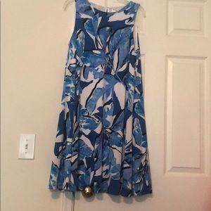 Never worn loose flirty blue dress